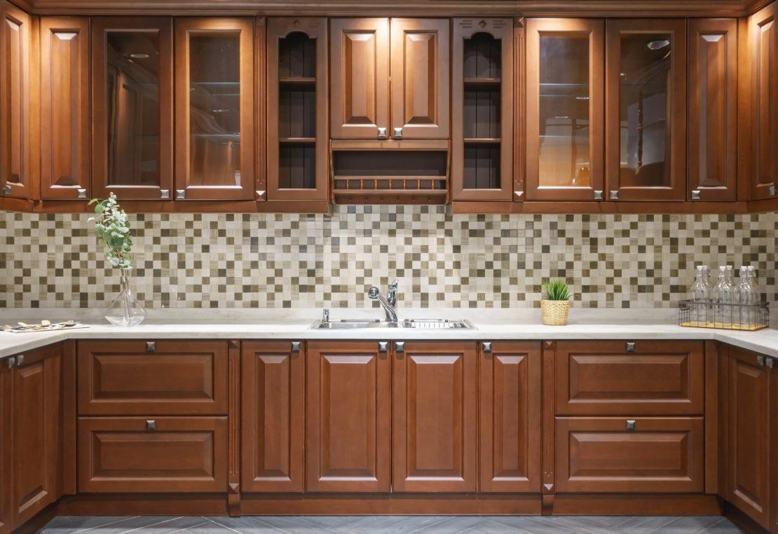 Photo of raised panel cabinets
